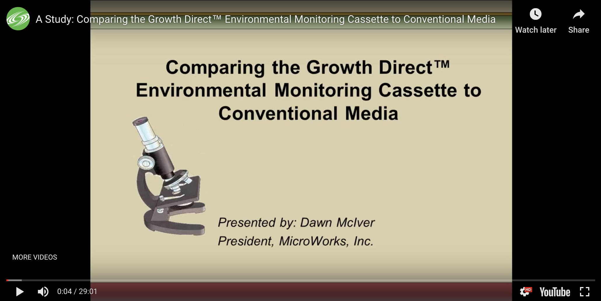 Comparing the Growth Direct Environmental Monitoring Cassette to Conventional Media